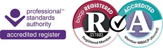 Professional standards authority accredited register. BACP registered. Member MBACP (Accredited)